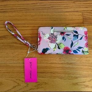 NWT Betsey Johnson Lavender Floral Wallet Wristlet